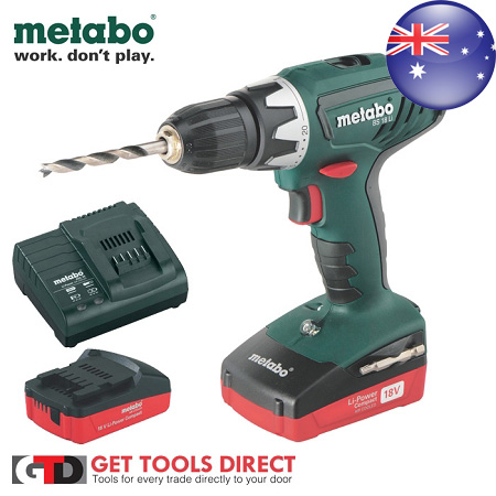 metabo 18v cordless hammer drill sb18li ebay. Black Bedroom Furniture Sets. Home Design Ideas